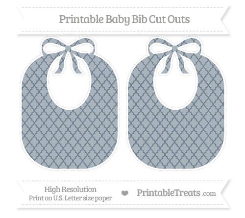 Free Slate Grey Moroccan Tile Large Baby Bib Cut Outs