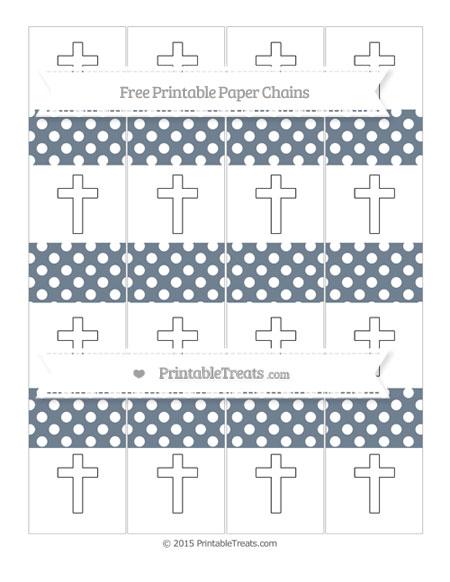 Free Slate Grey Polka Dot Cross Paper Chains
