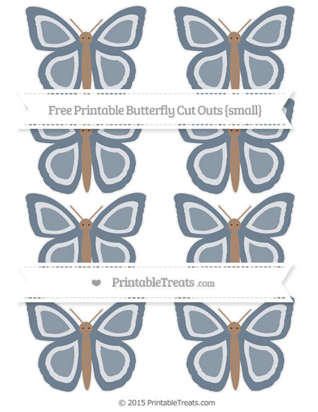 Free Slate Grey Small Butterfly Cut Outs