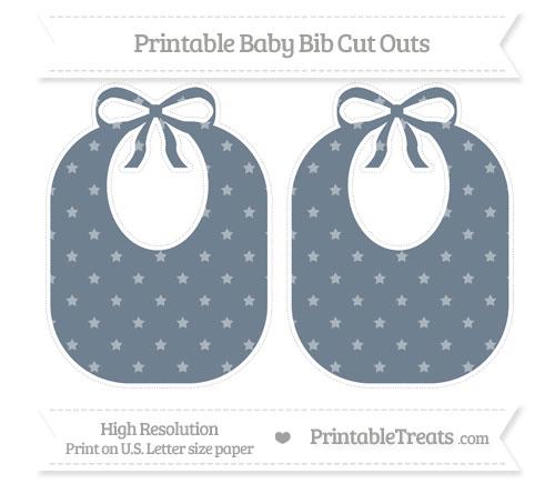 Free Slate Grey Star Pattern Large Baby Bib Cut Outs
