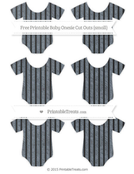 Free Slate Grey Thin Striped Pattern Chalk Style Small Baby Onesie Cut Outs