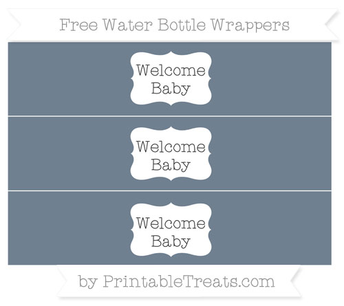 Free Slate Grey Welcome Baby Water Bottle Wrappers