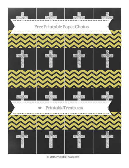 Free Straw Yellow Chevron Chalk Style Cross Paper Chains