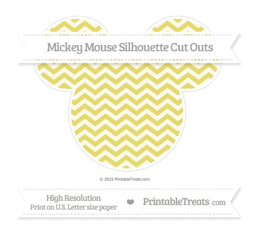 Free Straw Yellow Chevron Extra Large Mickey Mouse Silhouette Cut Outs