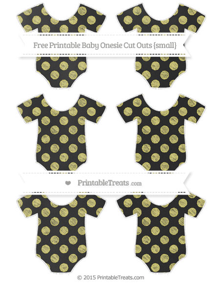 Free Straw Yellow Dotted Pattern Chalk Style Small Baby Onesie Cut Outs