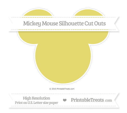 Free Straw Yellow Extra Large Mickey Mouse Silhouette Cut Outs