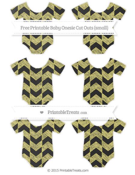 Free Straw Yellow Herringbone Pattern Chalk Style Small Baby Onesie Cut Outs