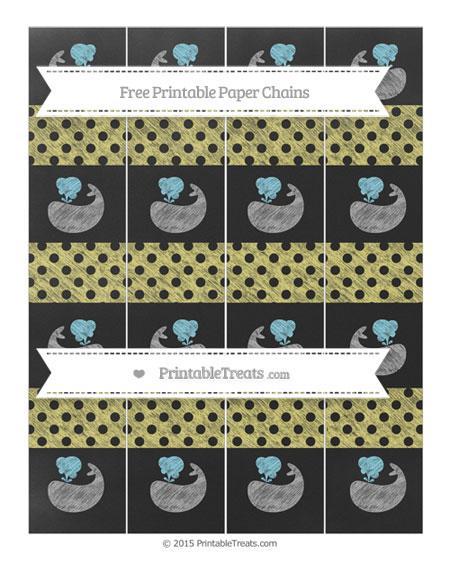Free Straw Yellow Polka Dot Chalk Style Whale Paper Chains
