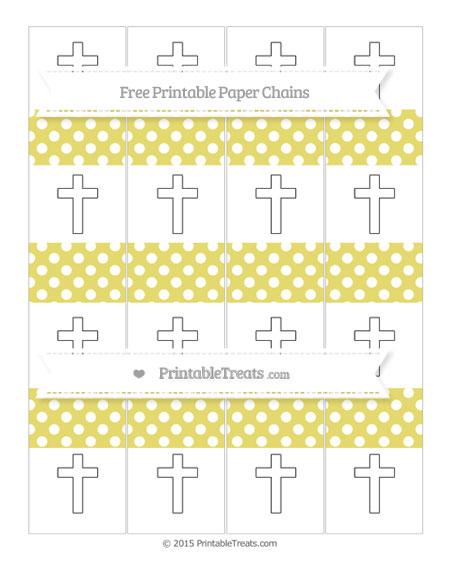 Free Straw Yellow Polka Dot Cross Paper Chains