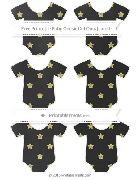 Free Straw Yellow Star Pattern Chalk Style Small Baby Onesie Cut Outs
