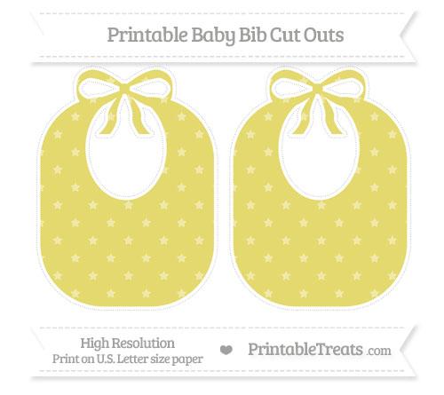 Free Straw Yellow Star Pattern Large Baby Bib Cut Outs
