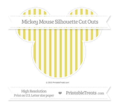 Free Straw Yellow Striped Extra Large Mickey Mouse Silhouette Cut Outs