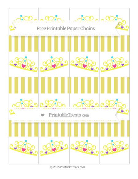 Free Straw Yellow Striped Princess Tiara Paper Chains