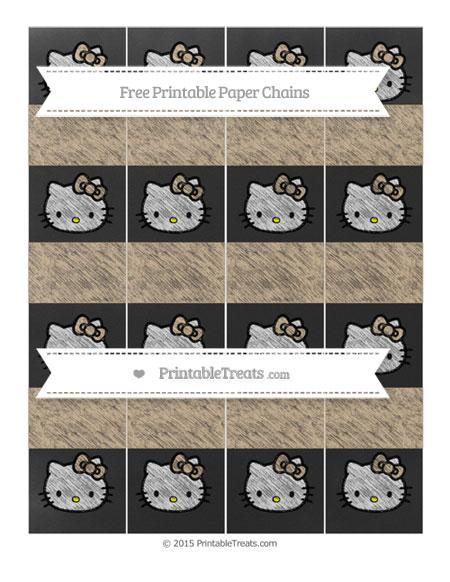 Free Tan Chalk Style Hello Kitty Paper Chains