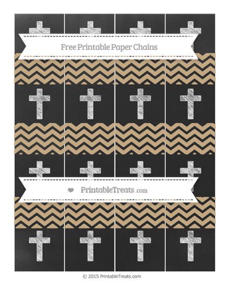 Free Tan Chevron Chalk Style Cross Paper Chains