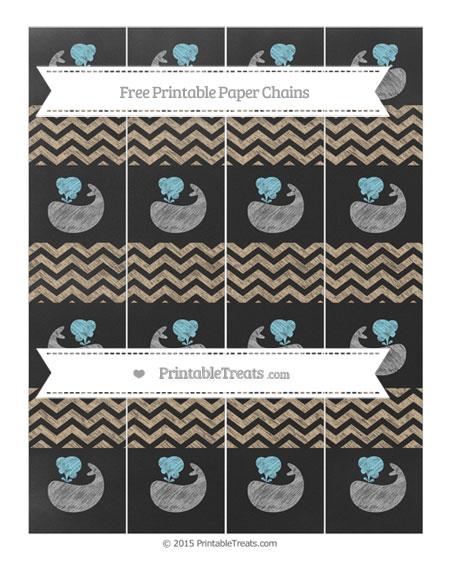 Free Tan Chevron Chalk Style Whale Paper Chains