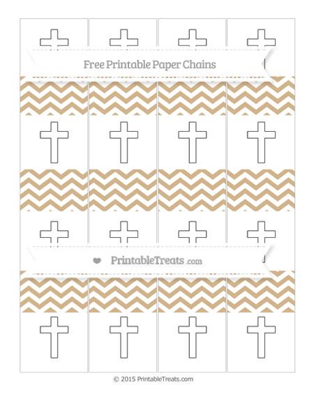 Free Tan Chevron Cross Paper Chains
