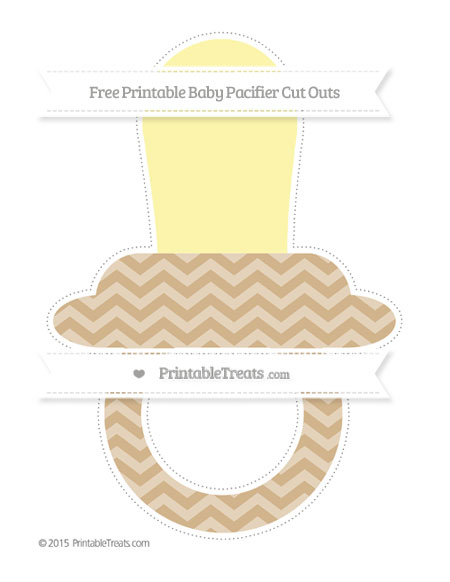 Free Tan Chevron Extra Large Baby Pacifier Cut Outs