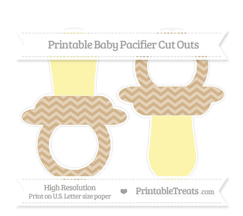 Free Tan Chevron Large Baby Pacifier Cut Outs