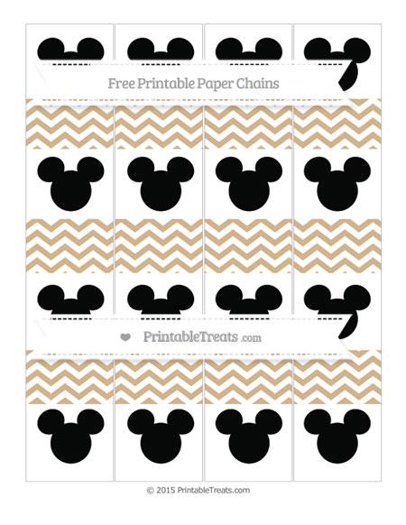 Free Tan Chevron Mickey Mouse Paper Chains