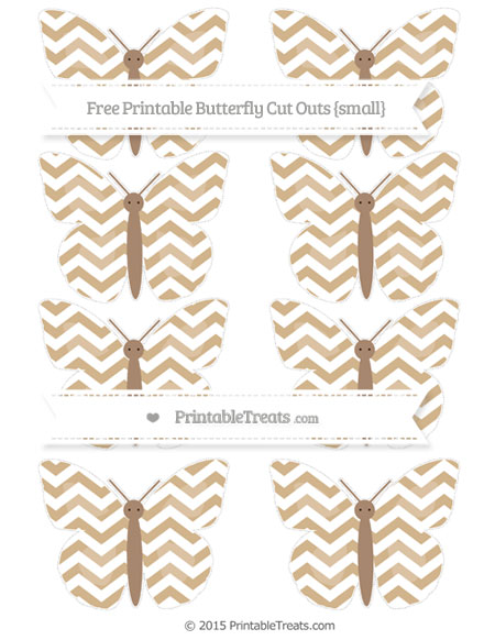 Free Tan Chevron Small Butterfly Cut Outs