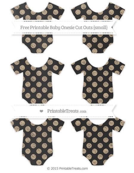 Free Tan Dotted Pattern Chalk Style Small Baby Onesie Cut Outs