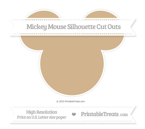 Free Tan Extra Large Mickey Mouse Silhouette Cut Outs