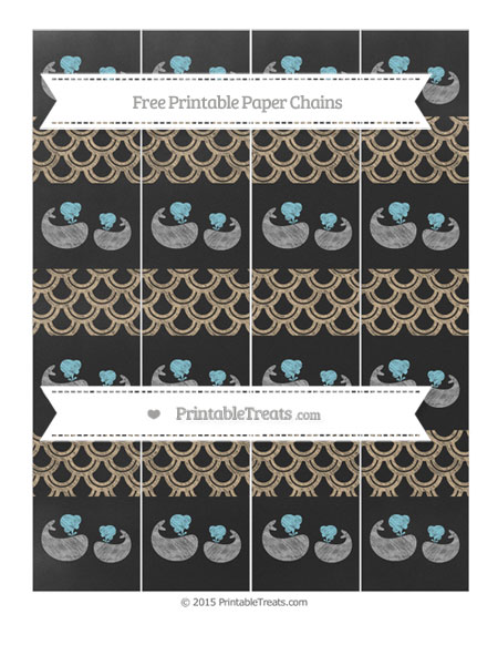 Free Tan Fish Scale Pattern Chalk Style Baby Whale Paper Chains