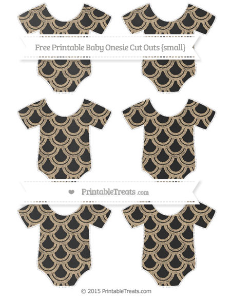 Free Tan Fish Scale Pattern Chalk Style Small Baby Onesie Cut Outs