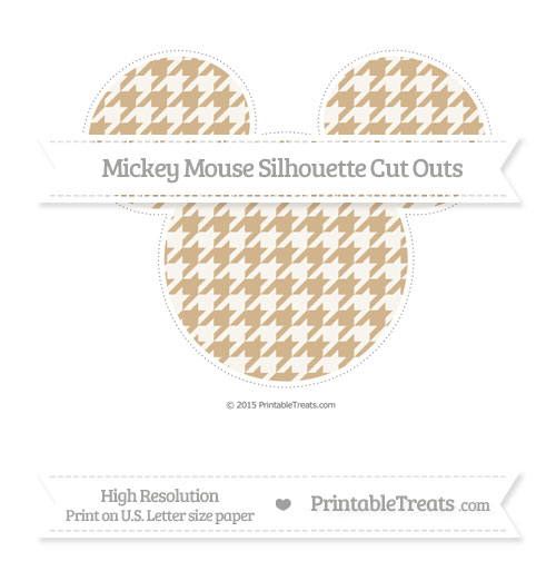 Free Tan Houndstooth Pattern Extra Large Mickey Mouse Silhouette Cut Outs