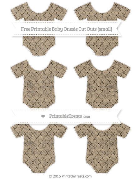 Free Tan Moroccan Tile Chalk Style Small Baby Onesie Cut Outs