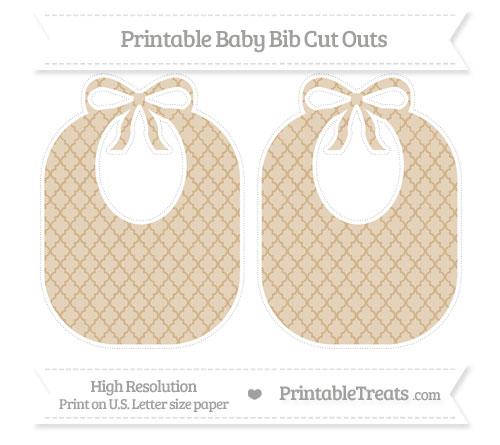 Free Tan Moroccan Tile Large Baby Bib Cut Outs