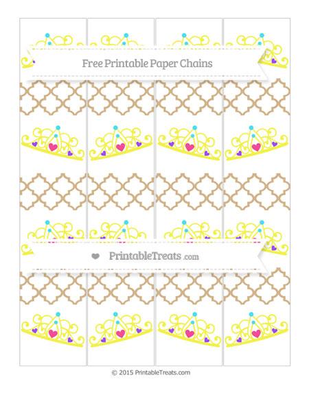 Free Tan Moroccan Tile Princess Tiara Paper Chains