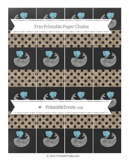 Free Tan Polka Dot Chalk Style Whale Paper Chains