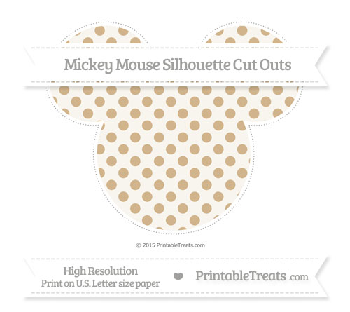 Free Tan Polka Dot Extra Large Mickey Mouse Silhouette Cut Outs