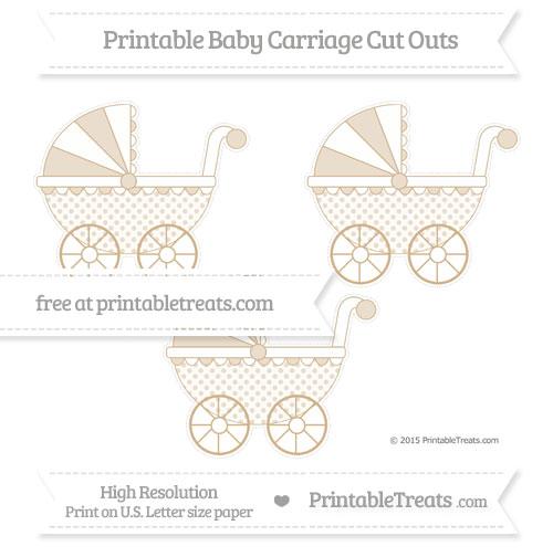 Free Tan Polka Dot Medium Baby Carriage Cut Outs