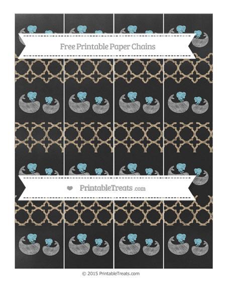 Free Tan Quatrefoil Pattern Chalk Style Baby Whale Paper Chains