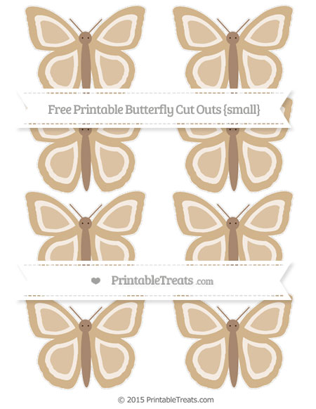 Free Tan Small Butterfly Cut Outs