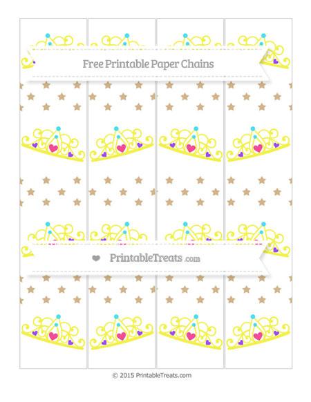 Free Tan Star Pattern Princess Tiara Paper Chains