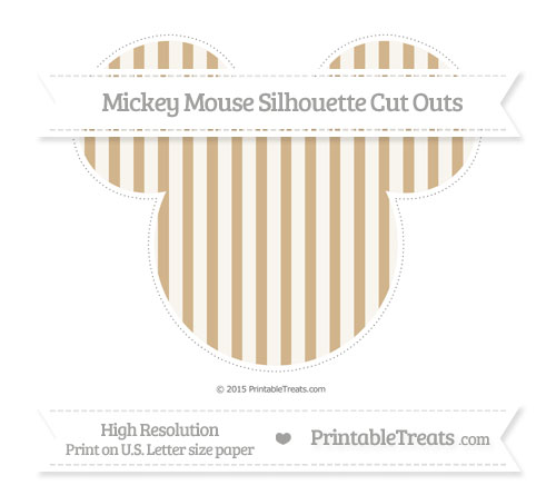 Free Tan Striped Extra Large Mickey Mouse Silhouette Cut Outs