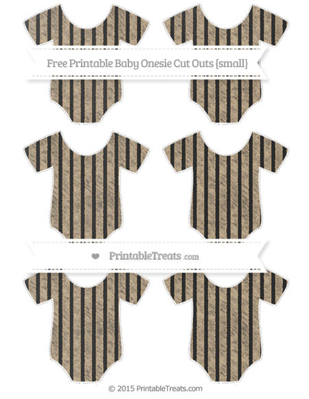 Free Tan Thin Striped Pattern Chalk Style Small Baby Onesie Cut Outs