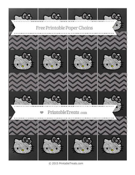 Free Taupe Grey Chevron Chalk Style Hello Kitty Paper Chains