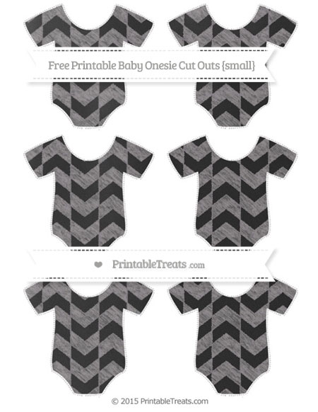 Free Taupe Grey Herringbone Pattern Chalk Style Small Baby Onesie Cut Outs