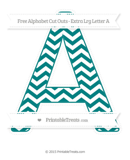 Free Teal Chevron Extra Large Capital Letter A Cut Outs