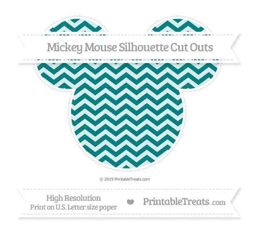 Free Teal Chevron Extra Large Mickey Mouse Silhouette Cut Outs