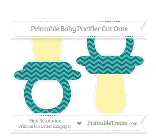 Free Teal Chevron Large Baby Pacifier Cut Outs