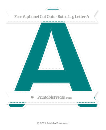 Free Teal Extra Large Capital Letter A Cut Outs