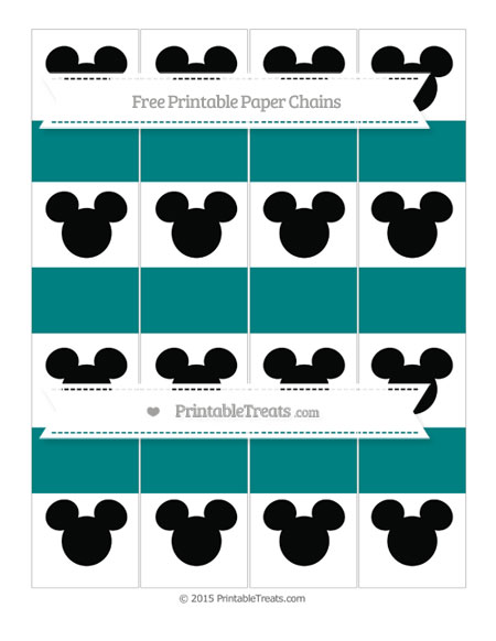 Free Teal Mickey Mouse Paper Chains