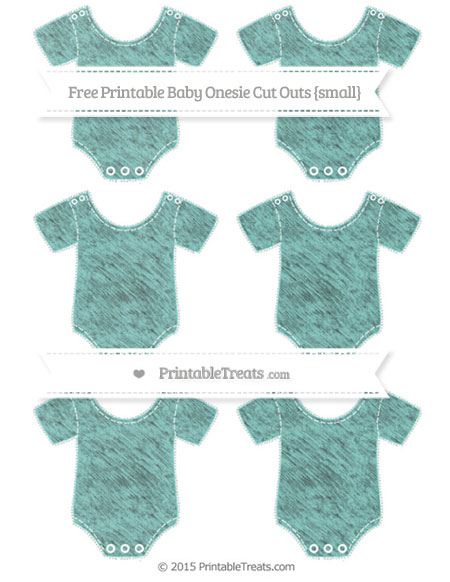 Free Tiffany Blue Chalk Style Small Baby Onesie Cut Outs