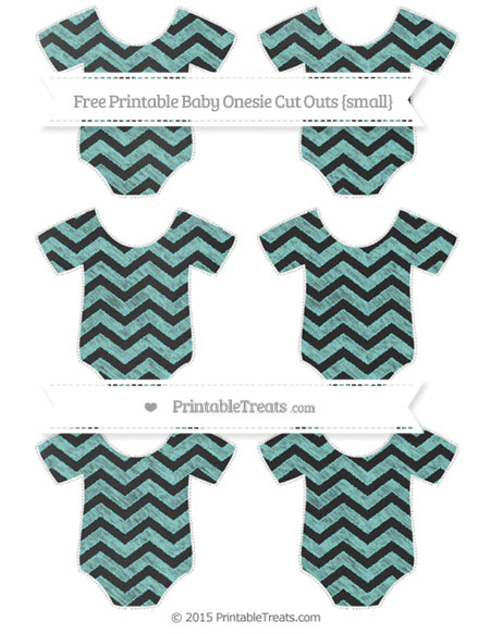 Free Tiffany Blue Chevron Chalk Style Small Baby Onesie Cut Outs